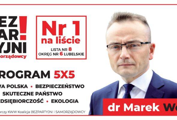 dr Marek Woch Bezpartyjny kandydat na Posła na Sejm RP 2019